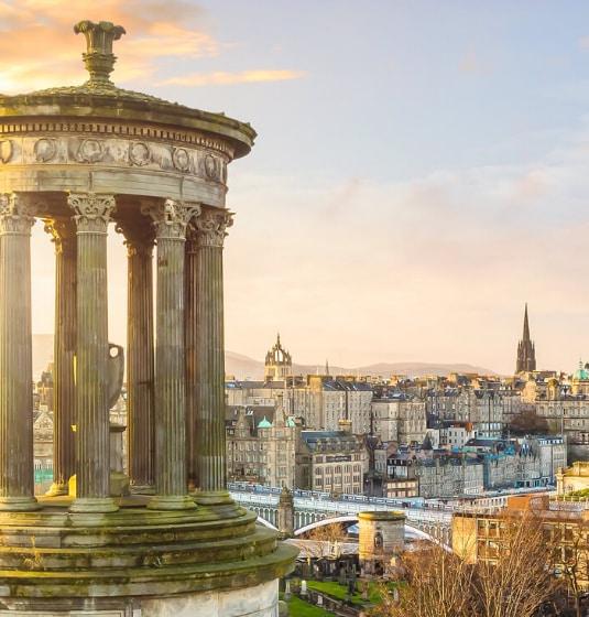 A landscape view of Edinburgh
