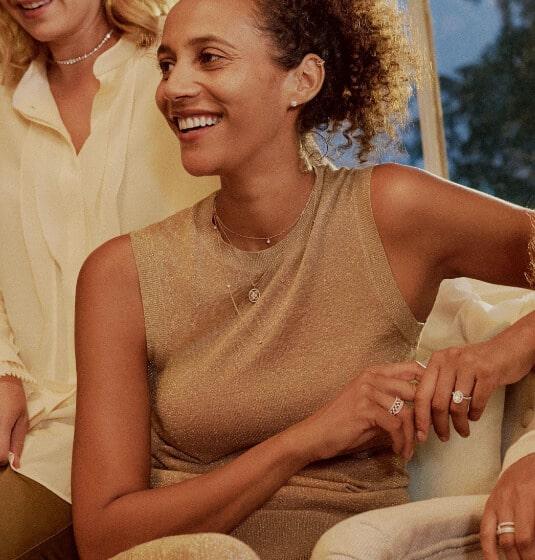 A women wearing De Beers jewellery