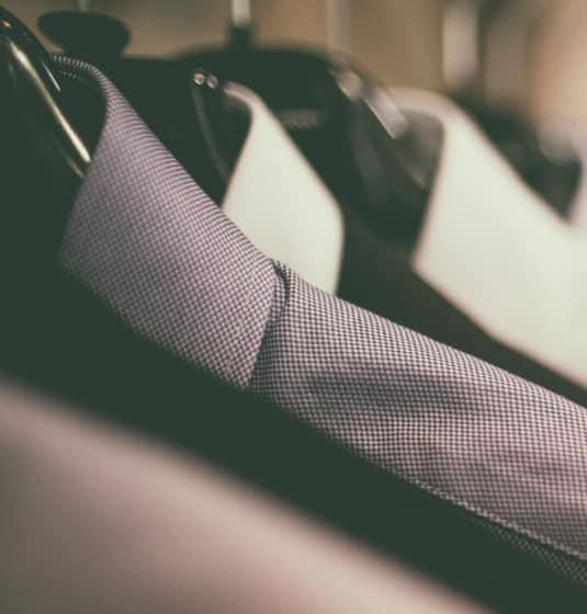 Close up of men's suits