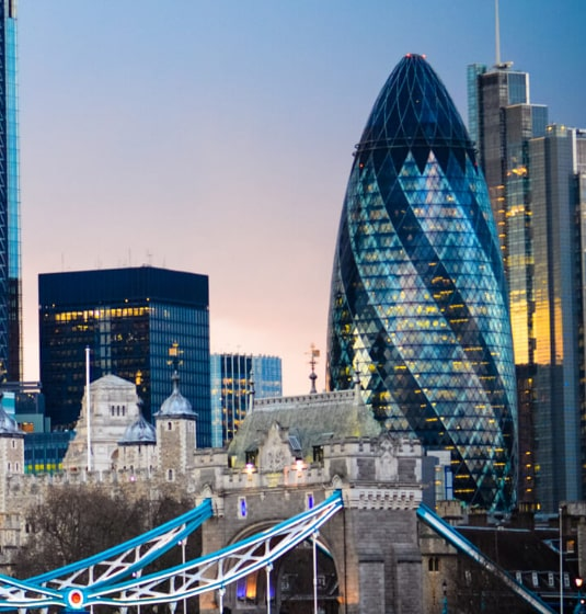 Image of London skyline including the Gherkin