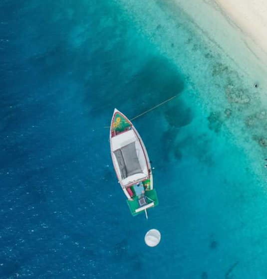 Boat on an exotic sea