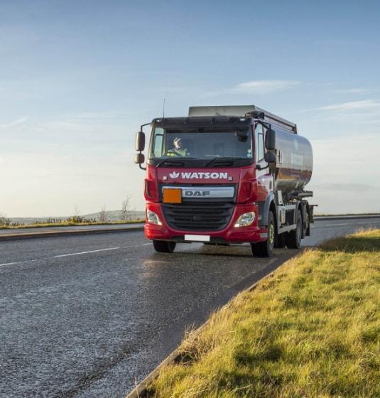 Watson Fuels truck on road