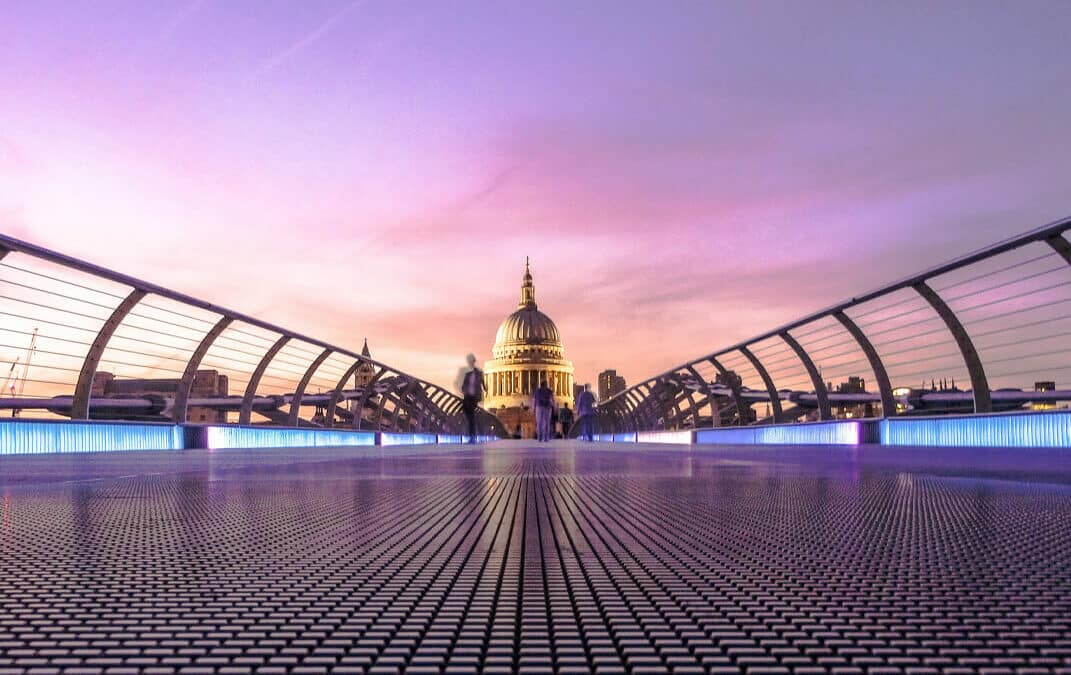 London bridge with a view of St Pauls